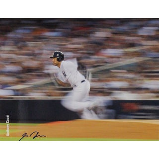 Derek Jeter Rounding First 16x20 Photo Uns (Signed By Photographer Anthony Causi)