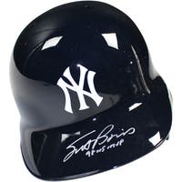 "Scott Brosius Signed New York Yankees Left Ear Flap Batting Helmet w/ ""98 WS MVP Insc"" (MLB Auth)"