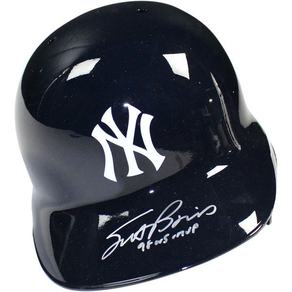 "Scott Brosius Signed New York Yankees Left Ear Flap Batting Helmet w/ ""98 WS MVP Insc"" (MLB Auth)"