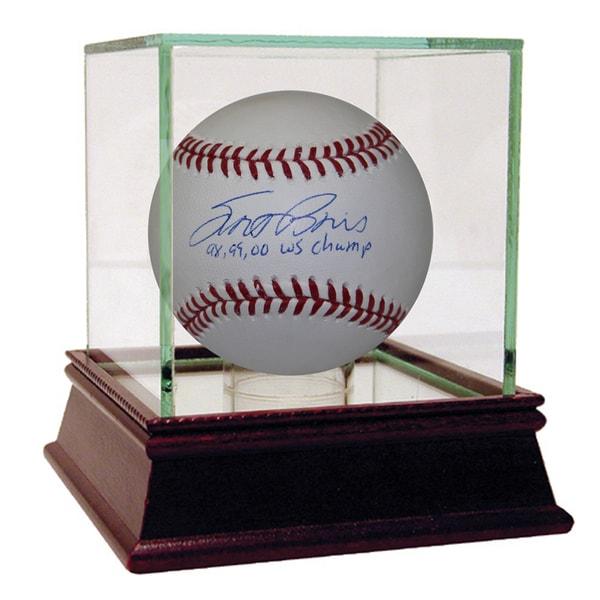 "Scott Brosius Signed MLB Baseball w/ ""98, 99, 00 WS Champs"" Insc. (MLB Auth)"