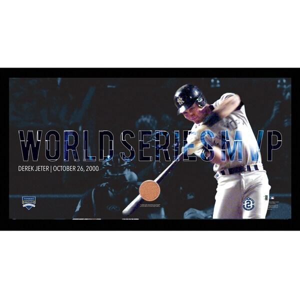Derek Jeter Moments: World Series MVP Collage Text Overlay Framed 9.5x19 7331 Style