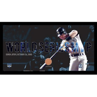 Derek Jeter Moments: World Series MVP Collage Text Overlay Framed 9.5x19 7331 Style