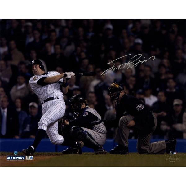 Scott Brosius Signed 2001 WS HR Swinging 16x20 Photos ( MLB Auth)