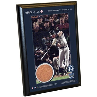 Derek Jeter Moments: World Series MVP 4x6 Dirt Plaque