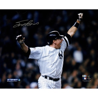 Scott Brosius Signed 2001 World Series Home Run 16x20 Photo (MLB Auth)