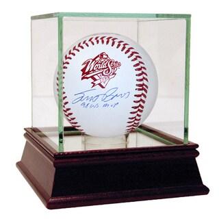 "Scott Brosius Signed 1998 WS Baseball w/ Insc. ""98 WS MVP"" (MLB Auth)"