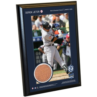 Derek Jeter Moments: WBC 4x6 Dirt Plaque