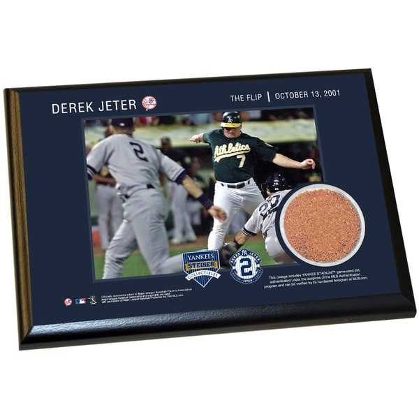 Derek Jeter Moments: The Flip 4x6 Dirt Plaque