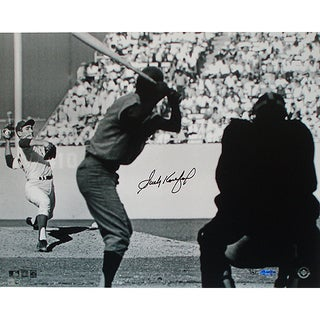 Sandy Koufax WS Pitching B&W 16x20 Photo LE 32 (UDA Auth) (MLB Auth)