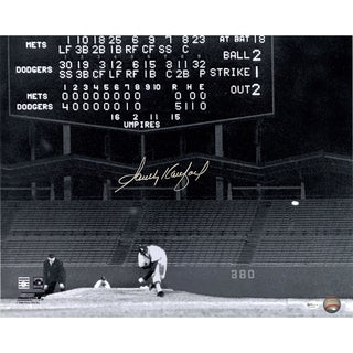 Sandy Koufax Signed Last Pitch During No Hitter 16x20 Photo (Online Auth)