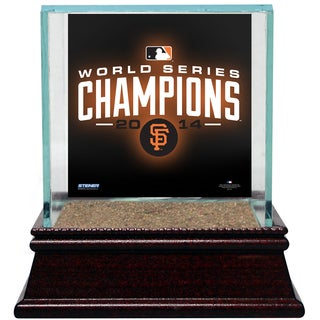 San Francisco Giants 2014 World Series Champions Single Glass Baseball Case W/ Authentic AT&T Park Stadium Dirt