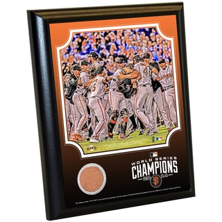 San Francisco Giants 2014 World Series 8x10 Celebration Dirt Plaque
