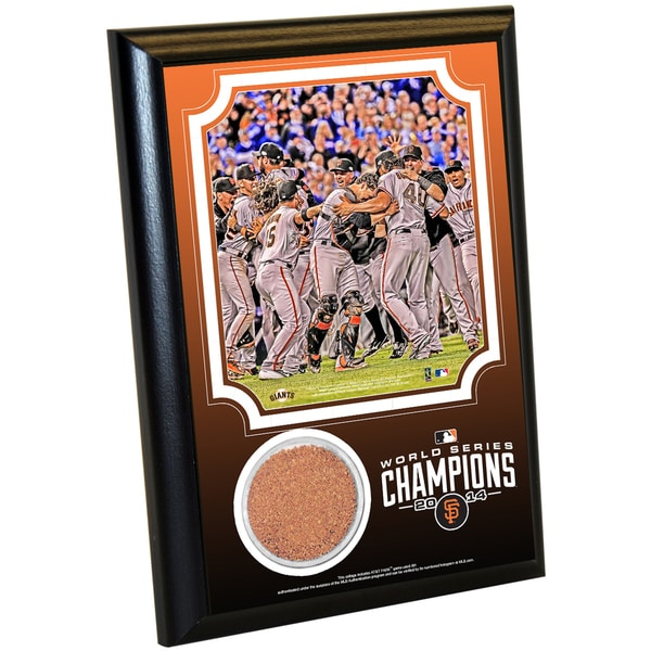 San Francisco Giants 2014 World Series 4x6 Celebration Dirt Plaque