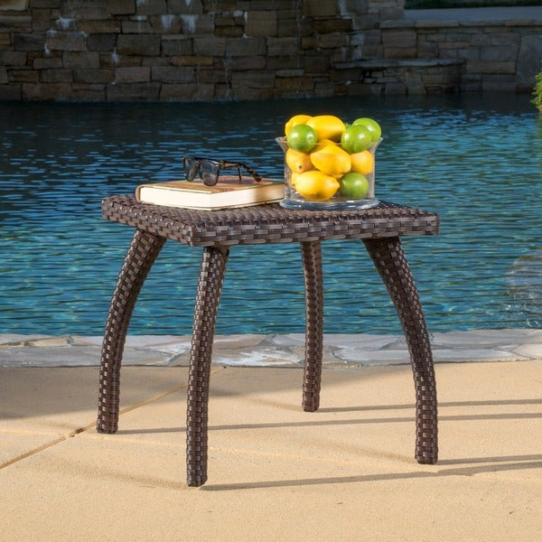 ... Honolulu Outdoor Wicker Side Table By Christopher Knight Home ...