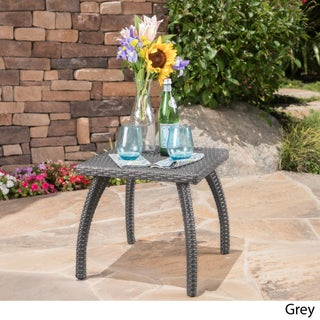 Honolulu Outdoor Wicker Side Table by Christopher Knight Home (2 options available)