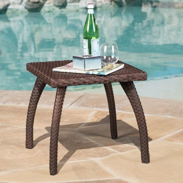B M Rattan Coffee Table: Shop Honolulu Outdoor Wicker Side Table By Christopher