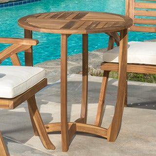 Christopher Knight Home Coronado Outdoor Round Acacia Wood Accent Table