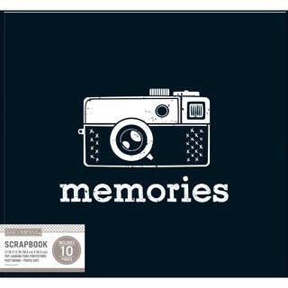 K&Company Patterned Post Bound Basic Album 12inX12in Black Vintage Memories https://ak1.ostkcdn.com/images/products/11203606/P18192764.jpg?impolicy=medium