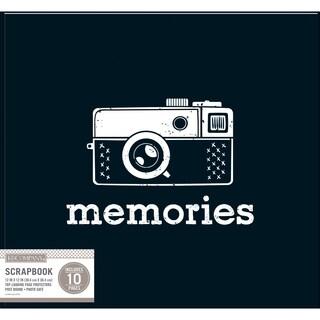 K&Company Patterned Post Bound Basic Album 12inX12in Black Vintage Memories