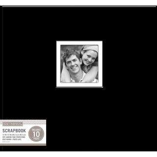 K&Company Fabric Post Bound Window Album 12inX12in Black