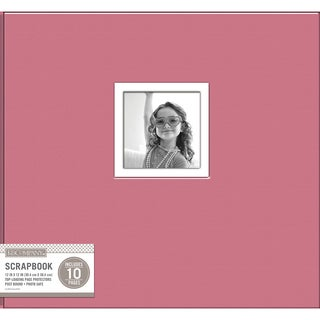 K&Company Fabric Post Bound Window Album 12inX12in Pink