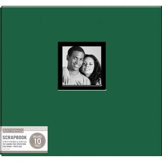 K&Company Fabric Post Bound Window Album 12inX12in Hunter Green|https://ak1.ostkcdn.com/images/products/11203612/P18192770.jpg?impolicy=medium