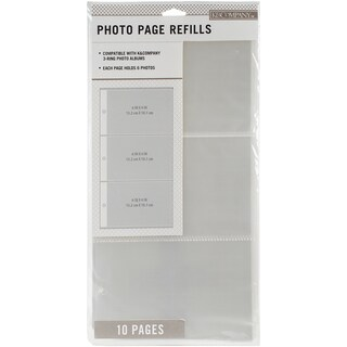 K&Company 3 Up Binder Photo Page Refill 6.625inX12.75in 10/Pkg