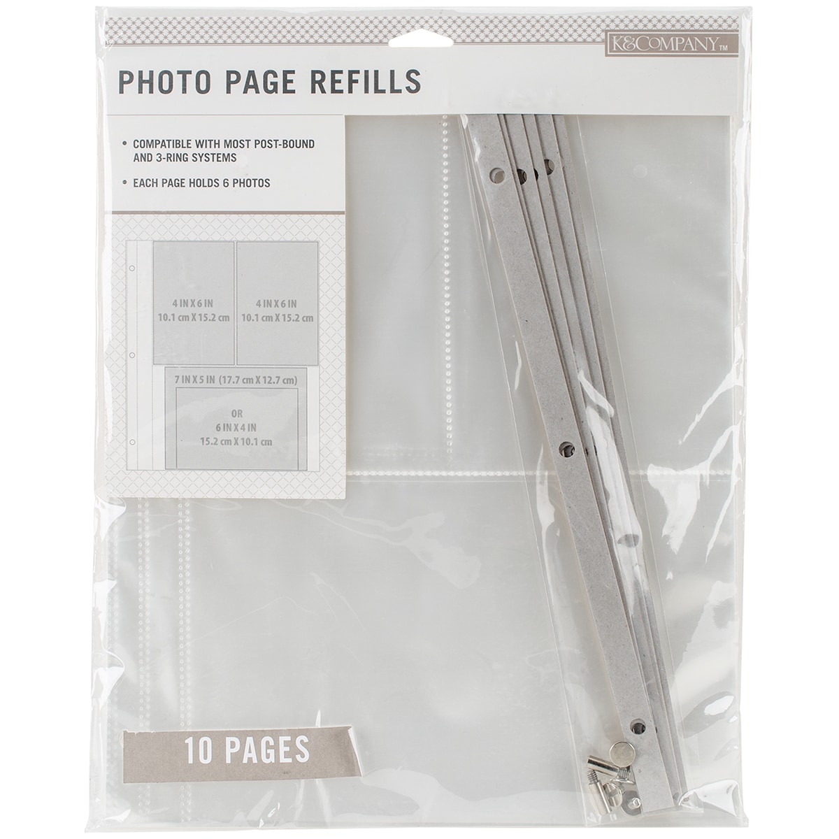 K&Company Photo Page Refills 8.5inX11in 10/Pkg (2) 4x6 & ...