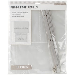 K&Company Photo Page Refills 8.5inX11in 10/Pkg (2) 4x6 & (1) 7inX5in Pockets