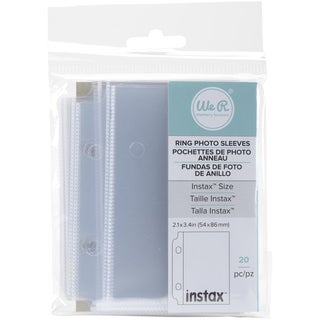 We R Fujifilm Instax Photo Sleeve Protectors 2.1inX3.4in 20/Pk Single Pocket