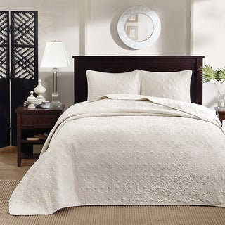 Madison Park Mansfield 3-piece Queen Size Oversized Bedspread Set in Blue (As Is Item)
