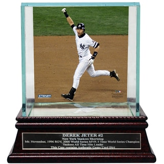 Derek Jeter Moments: Mr. November Background Glass Single Baseball Case w/ Nameplate