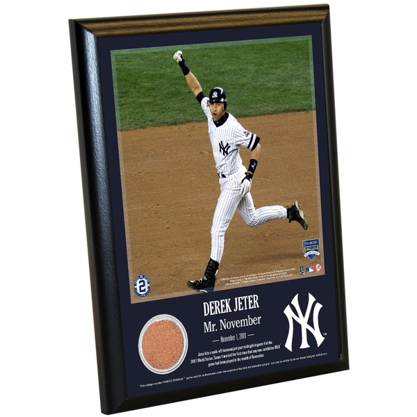 Derek Jeter Moments: Mr. November 8x10 Dirt Plaque