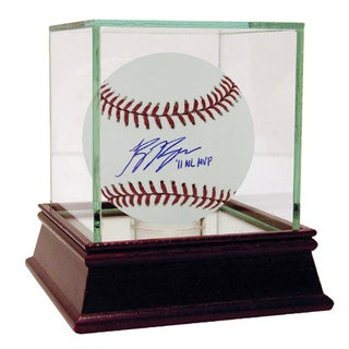 Ryan Braun Autographed MLB Baseball w/ 2011 NL MVP Insc (MLB Auth)