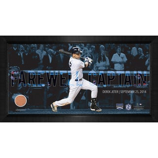 Derek Jeter Moments: Final Yankee Moment Framed 10x20 Photo
