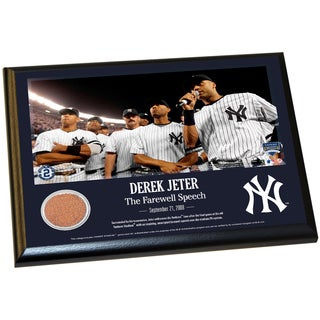 Derek Jeter Moments: Farewell Speech 8x10 Dirt Plaque