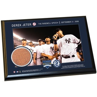 Derek Jeter Moments: Farewell Speech 4x6 Dirt Plaque