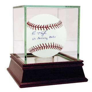 "Ron Taylor Signed MLB Baseball w/ ""69 Amazing Mets"" insc"
