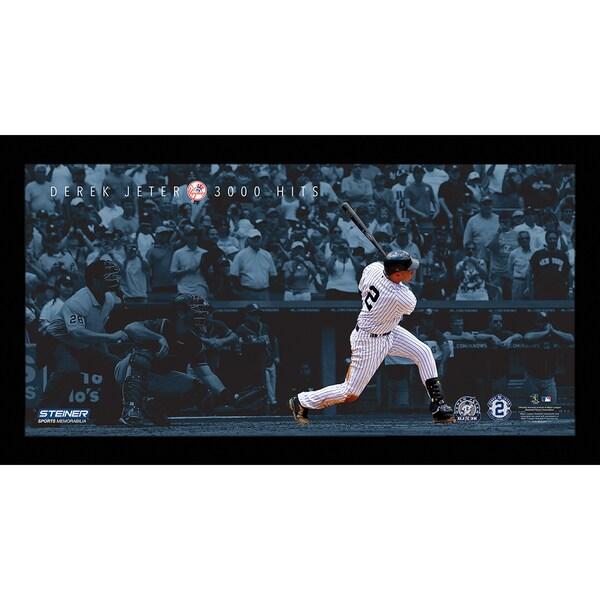Derek Jeter Moments: DJ3K Framed 9.5x19 7331 Style