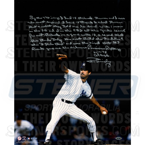 Ron Guidry Signed Pitching on Mound 16x20 Story Photo