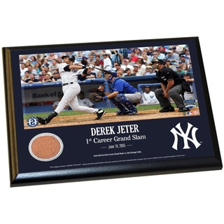 Derek Jeter Moments: 1st Grand Slam 8x10 Dirt Plaque