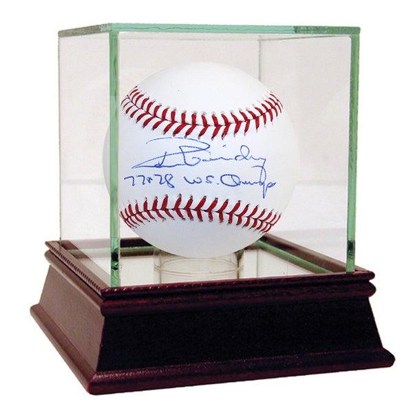"Ron Guidry MLB Baseball w/ ""77, 78 WS Champs"" Insc."