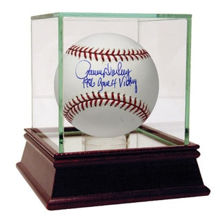 Ron Darling Signed MLB Baseball w/ 86 Game 4 Victory Insc