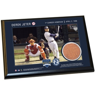 Derek Jeter Moments: 1st Career Homerun 4x6 Dirt Plaque