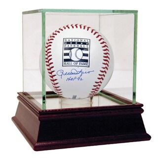 """Rollie Fingers Signed HOF Baseball w/ """"HOF 92"""" Insc (MLB Auth)"""