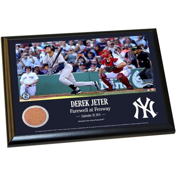 Derek Jeter Fenway Farewell Moment 8x10 Dirt Plaque