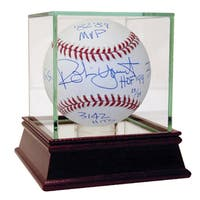 "Robin Yount Signed MLB Baseball w/ ""HOF 99, 3,142 Hits, MVP 82-89, 3x All-Star, 3x S.S/GG"" Insc. (MLB Auth) (LE/19)"