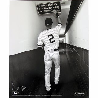 Derek Jeter B&W Shot In Tunnel At The Original Yankee Stadium Vertical 16x20 Photo uns (Signed By Photographer Anthony Causi)
