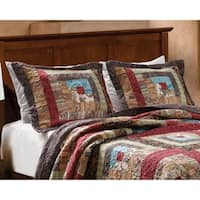 Greenland Home Fashions Colorado Cabin Cotton Patchwork Sham pair (Set of 2)