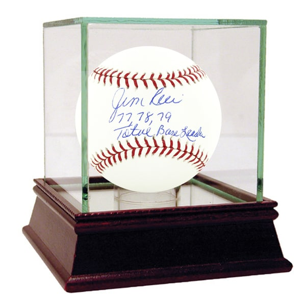 "Jim Rice Signed MLB Baseball w/ ""77, 78, 79 Total Base Leader"" insc"
